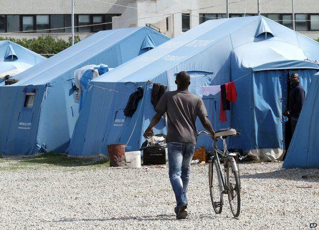 Migrant camp at Rosarno, southern Italy