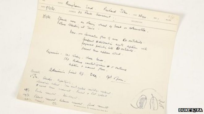 Lord Lucan plastic surgeon medical note auctioned \u2013 Bingham Press