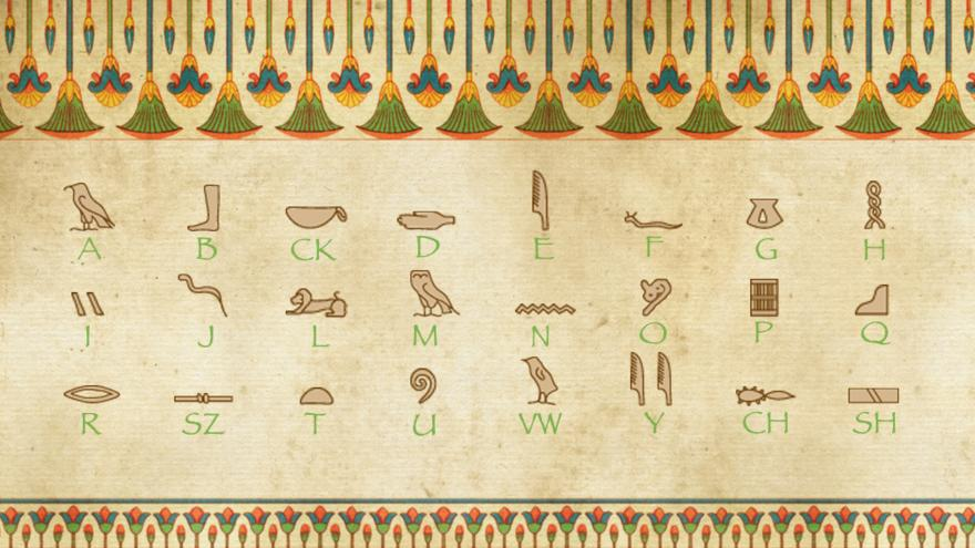 Spell your name with hieroglyphics! - CBBC - BBC