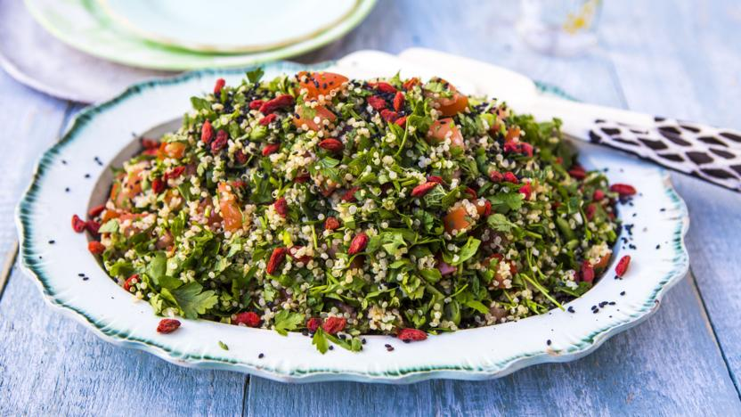 Quinoa goji tabbouleh recipe - BBC Food