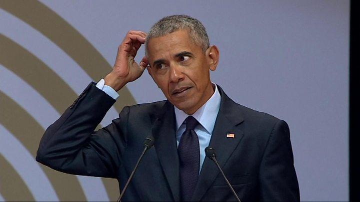 Mandela lecture Five things Barack Obama said - BBC News