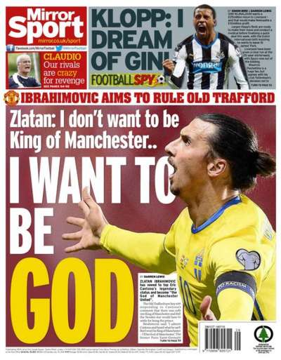 Daily Mirror back page 19 July