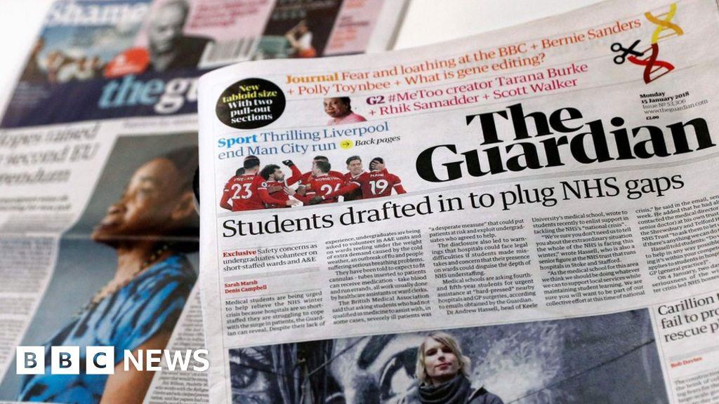 The Guardian newspaper adopts tabloid format - BBC News