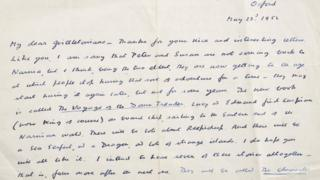 Cs Lewis Narnia Letter Sells For 9800 At Auction Bbc News