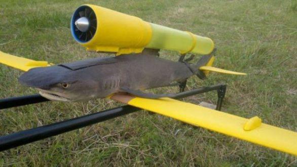 Un tiburón con turbina