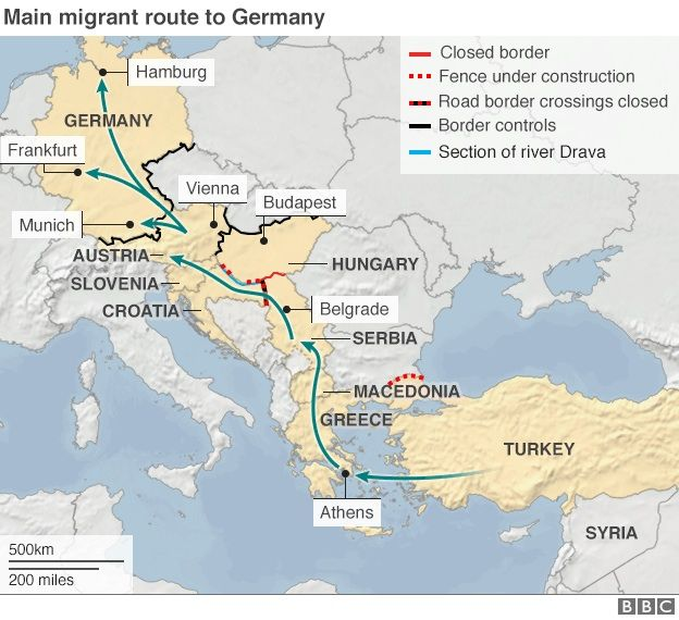 Migrant crisis EU ministers approve disputed quota plan - BBC News - best of world map hungary syria