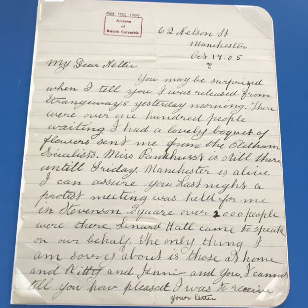 Imprisoned suffragette letter discovered - BBC News