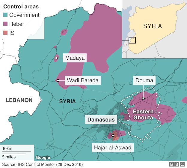 Syria conflict The biblical river at the heart of a water war - BBC