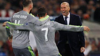 Zidane junto a Ramos y Ronaldo