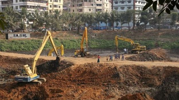Increasing urbanisation in Bangladesh's capital city, Dhaka
