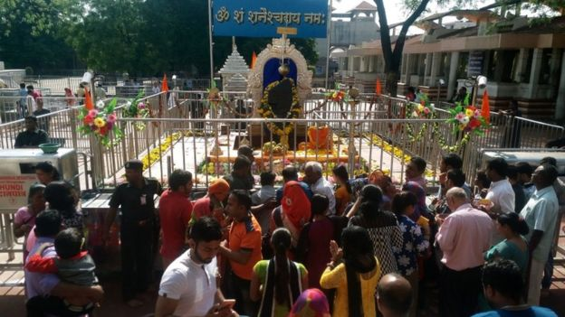 The Shani Singhnapur temple, 2 Apr