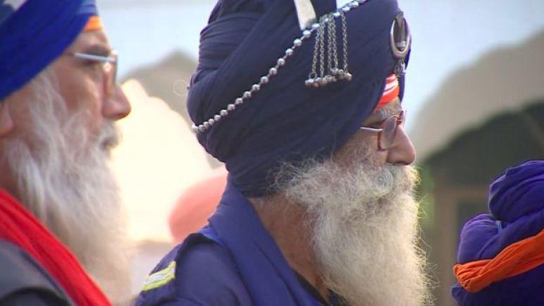 Sikhs at the Gurdwara Darbar Sahib Kartarpur