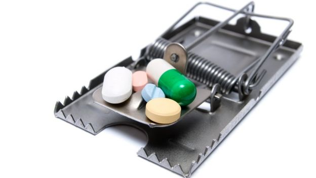 Trampa con pastillas