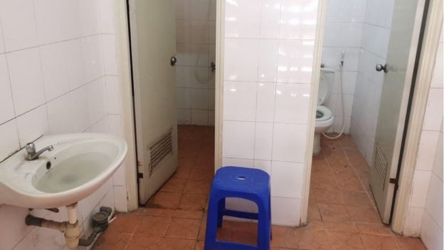 Toilets in a quarantine centre