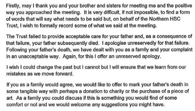 Northern Health Trust Family \u0027misled\u0027 over father\u0027s death - BBC News