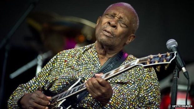 B.B. King performs live on the Pyramid stage during the Glastonbury Festival at Worthy Farm, Pilton on June 24, 2011