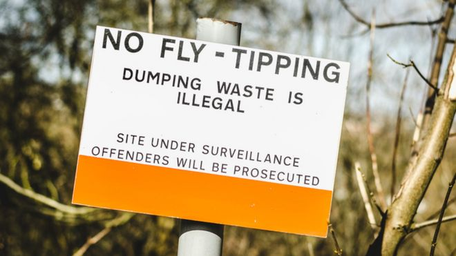 Fly-tipping What can you do with rubbish dumped on your land? - BBC