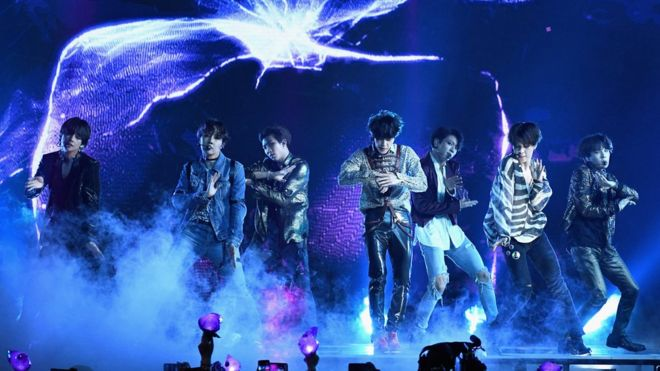 BTS become first K-pop band to top US album charts - BBC News