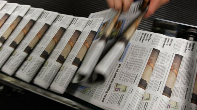 Why local US newspapers are sounding the alarm - BBC News - newspaper