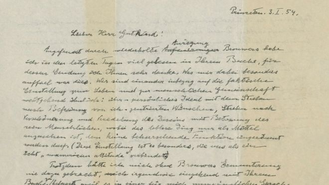 Albert Einstein\u0027s \u0027God letter\u0027 sells for $29m - BBC News