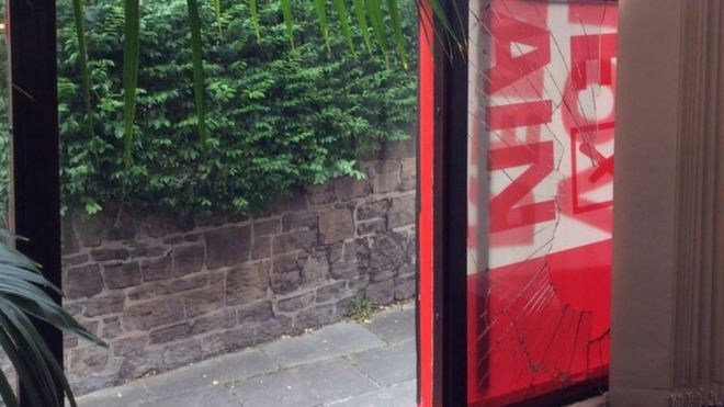 Window smashed at Labour MP Angela Eagle\u0027s Wallasey office - BBC News