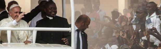The Pope waving in Bangui, CAR