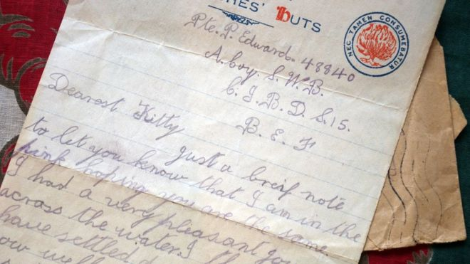 World War One soldier Percy\u0027s love letters reveal last months - BBC News
