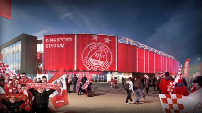 New company set up to deliver Aberdeen FC Kingsford stadium - BBC News