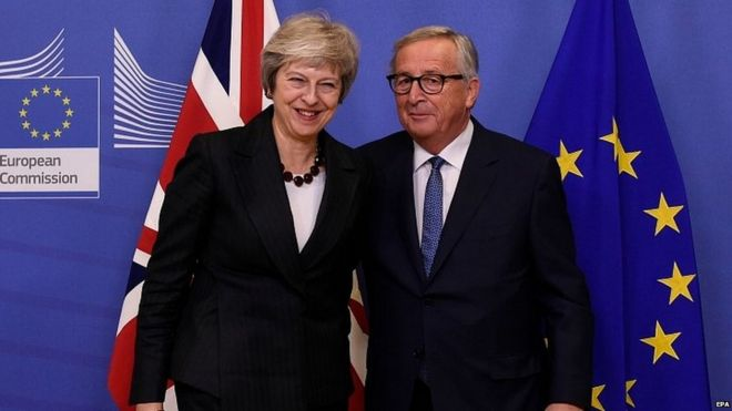 Theresa May iyo Jean-Claude Juncker