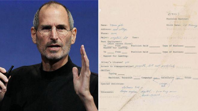 Steve Jobs Apple founder\u0027s 1973 job application going on sale - BBC
