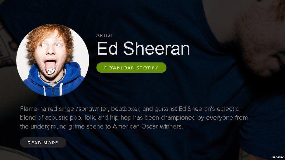 Ed Sheeran hits new Spotify high with two billion streams - BBC Newsbeat