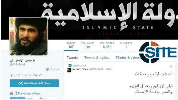 Cuenta de Twitter vinculada a Estado Islámico