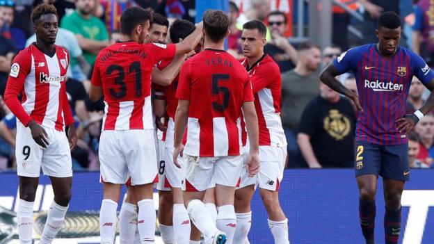 La Liga Barcelona 1 1 Athletic Bilbao Bbc Sport