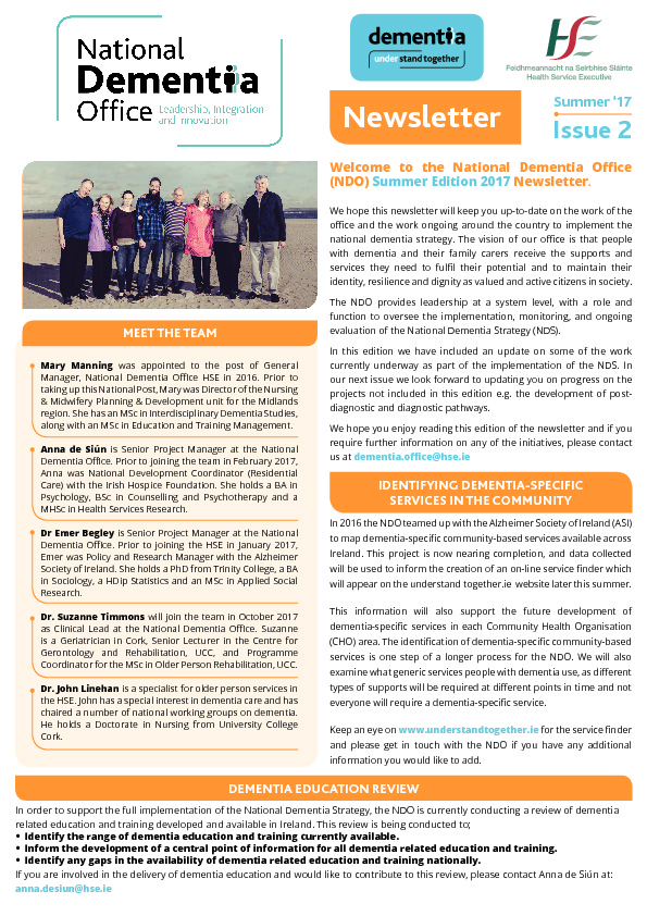 ICHN \u2013 National Dementia Office Newsletter