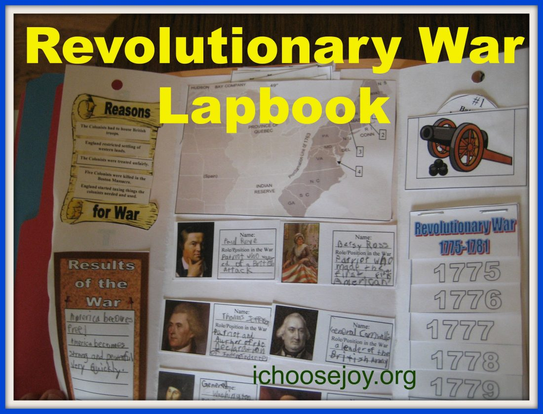 Revolutionary War unit study and lapbook