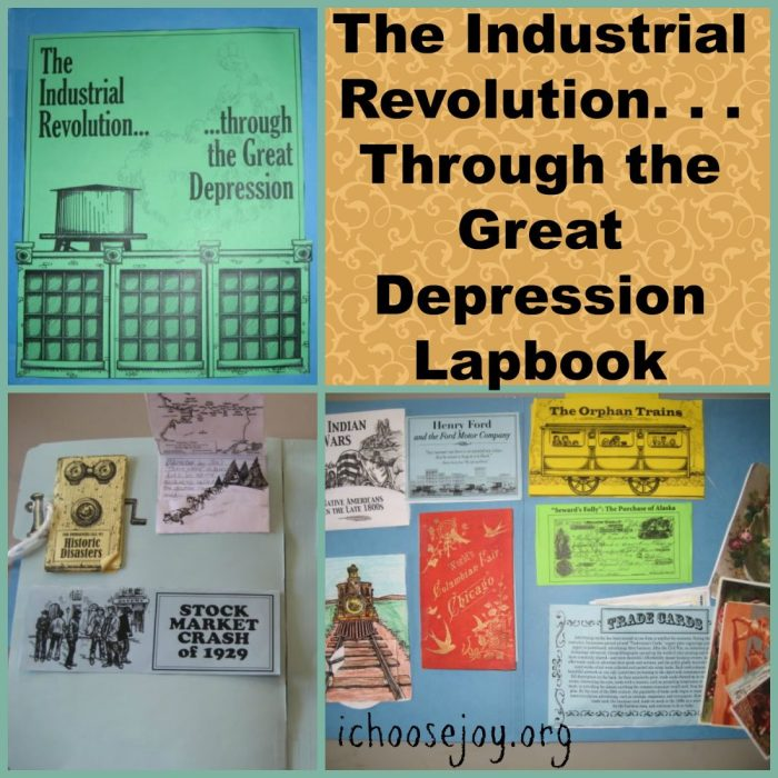The Industrial Revolution thru Great Depression Lapbook