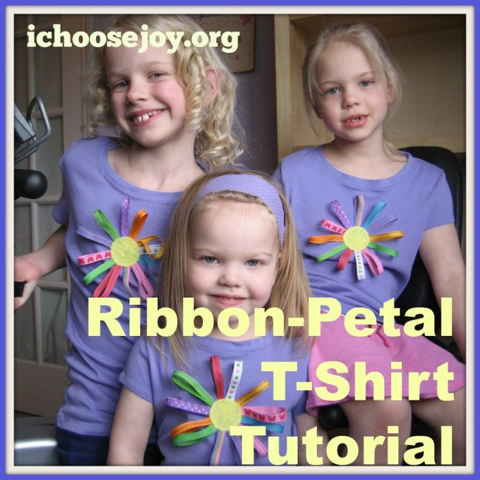 Ribbon Petal T-Shirt Tutorial