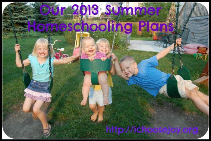 Summer Homeschooling Plans
