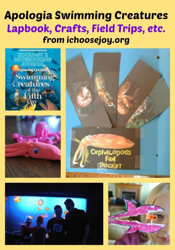 Apologia Swimming Creatures Lapbook Crafts Field Trips