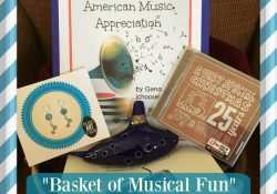 """Basket of Musical Fun"" Giveaway: Ocarina set, CD, Earrings, & Music Curriculum ($75+ Value!)"