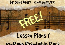 FREE: Handel's Messiah Lesson Plan and 10-page Printable Pack