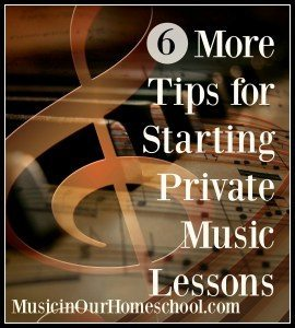 10 Tips for Starting Private Music Lessons