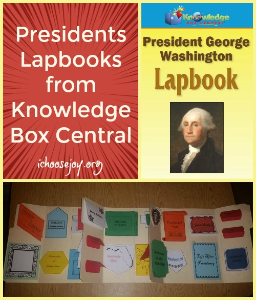 Presidents Lapbooks from Knowledge Box Central