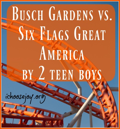 Busch Gardens vs. Six Flags Great America (by 2 teen boys)