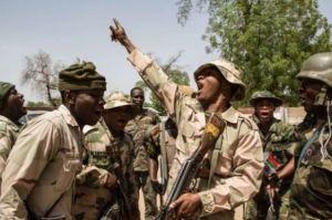 File: Troops rejoice after Bama was recaptured