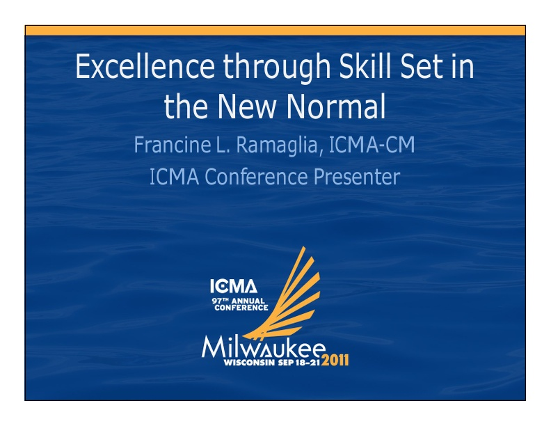 Excellence Through Skill Sets in the New Normal Part 1 icmaorg