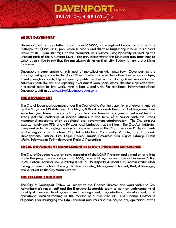SAMPLE Announcement for Local Government Management Fellow Program - organizational announcement samples