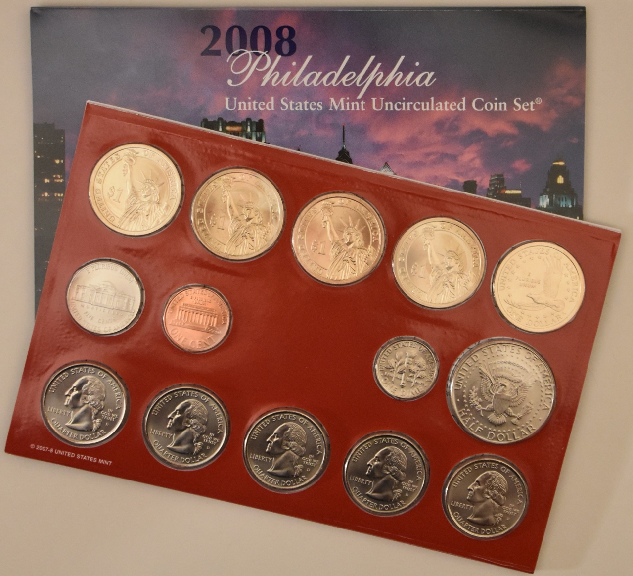Mint Set Z Sold 2008 Us Mint Set 28 Uncirculated Coins 14 From Philadelphia 14 From Denver