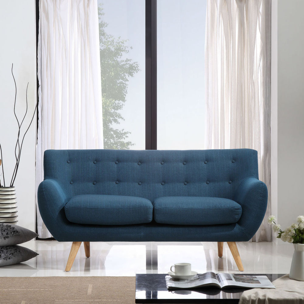 Couch Petrol Sixties 2 Seater Sofa Petrol Blue Scandinavian Style Couch Icon By Design