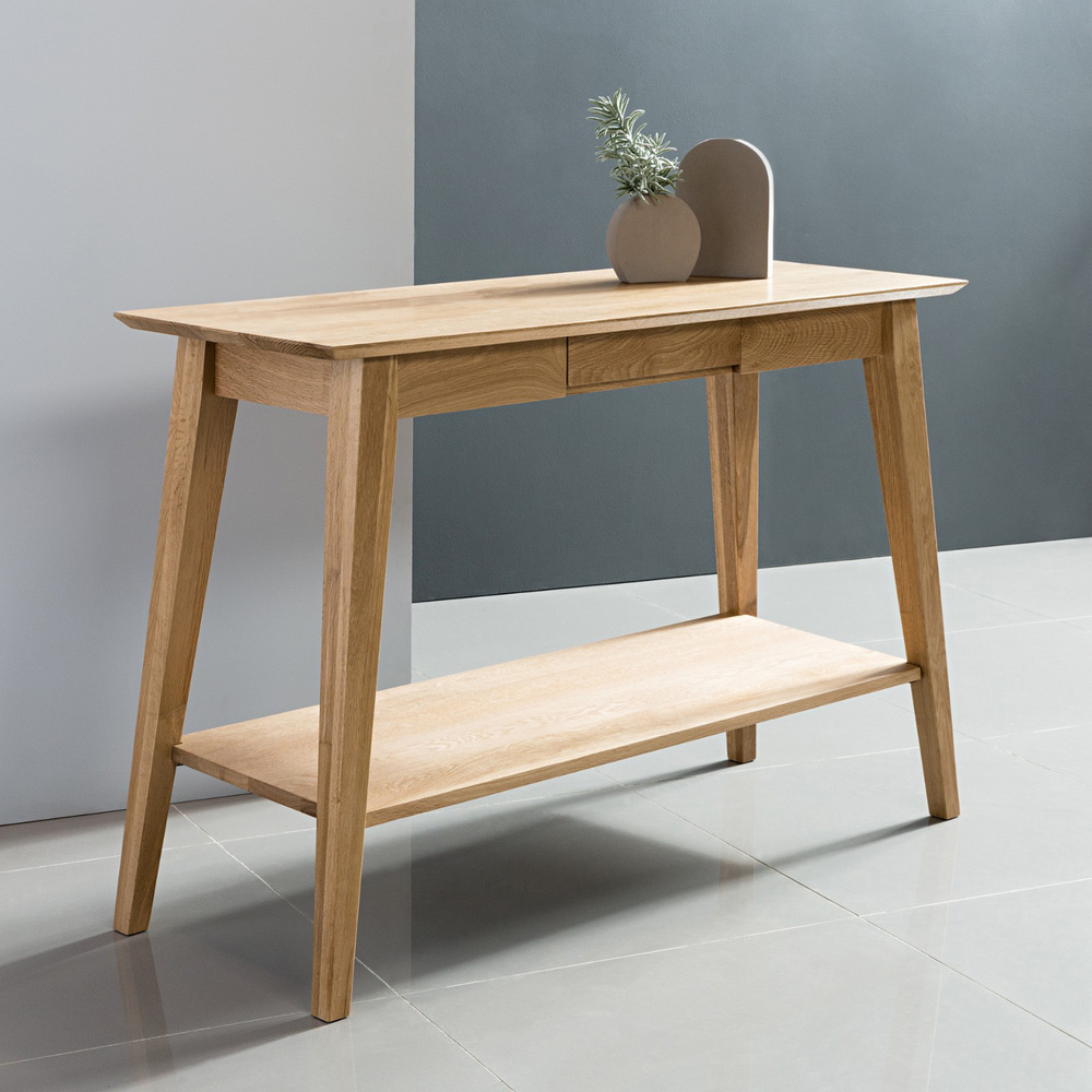 Console Tables Australia Jolanda Console Table Solid Oak 110x40x76cm